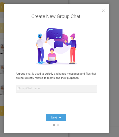Create new group chat