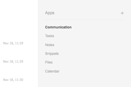 Organize your communication in folders.