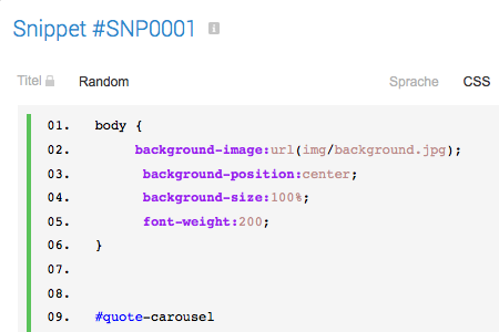 Stackfield Code-Snippets
