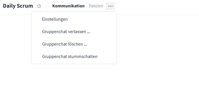 Gruppenchat Optionen