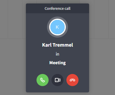 Incoming video group call