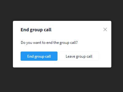 End group call