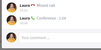 Listed call within an evenet