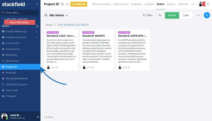 Wiki-Seiten Knowledge Base Struktur