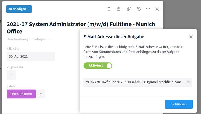 E-Mail-Integration