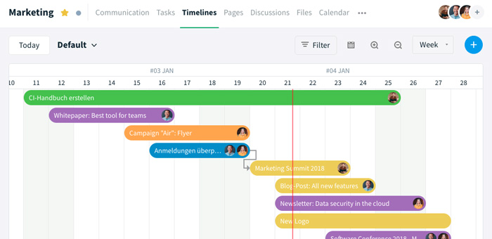 Stackfield Timelines