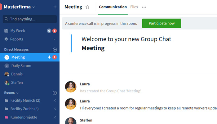 Group call notification within room