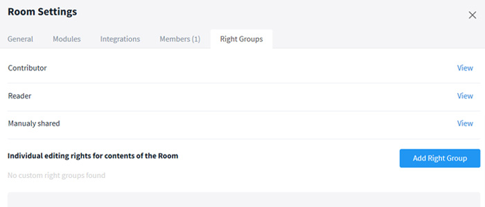 Right groups