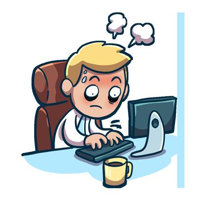 Emoji Sticker - gestresst