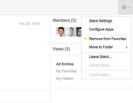 Manage your Apps to adapt each Stack to your personal collaboration needs.