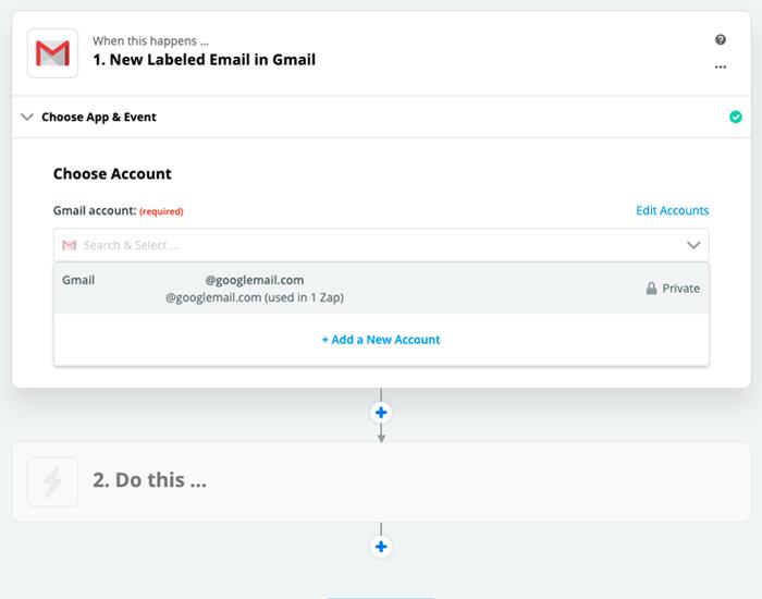 Zapier: Account hinzufügen