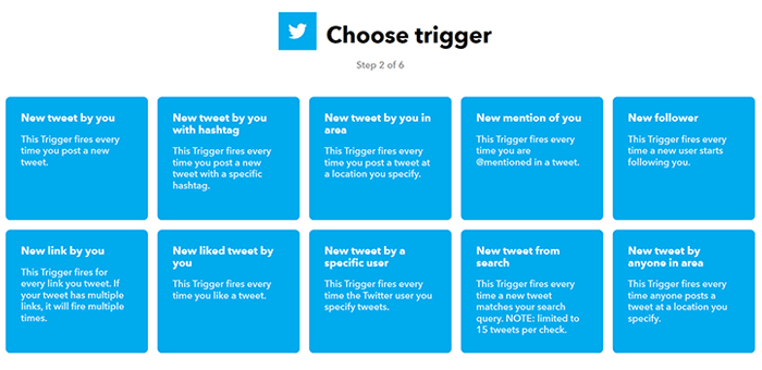 IFTTT: Choose trigger
