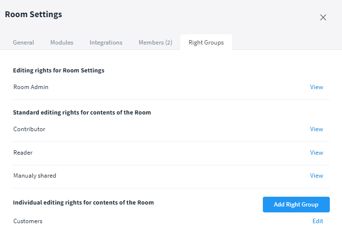 Check the settings for the right groups