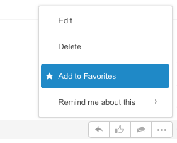 Add items to favorites