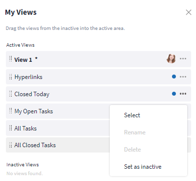 Manage views