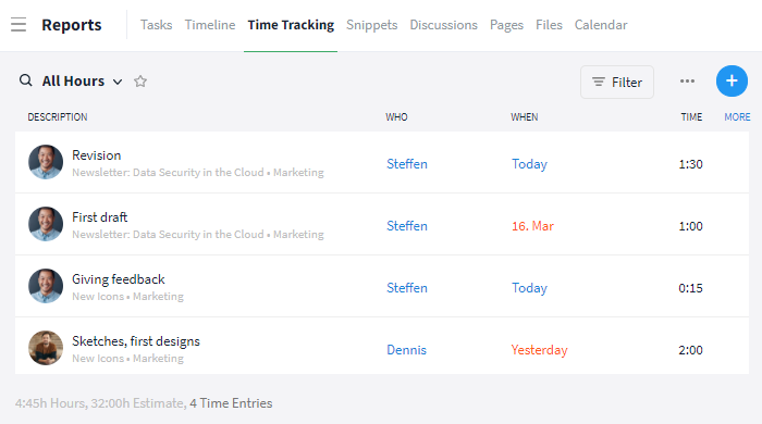 Time Tracking Reports